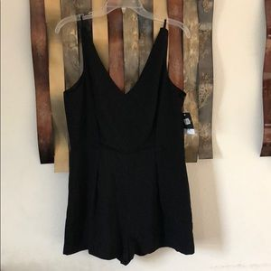 NWT Black Romper with lace back Nordstrom TopShop